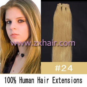 "20"" remy Human Hair Weft/Extensions 50"" Wide #24"