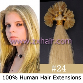 "100S 20"" Nail tip hair remy Human Hair Extensions #24"