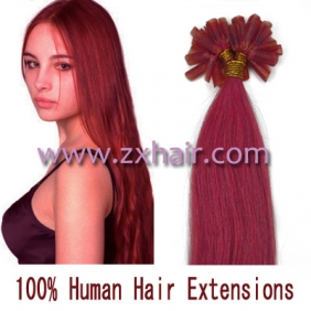 "100S 22"" Nail tip hair remy Human Hair Extensions #pink"
