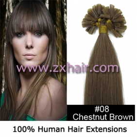 "100S 22"" Nail tip hair remy Human Hair Extensions #08"