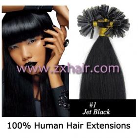 "100S 22"" Nail tip hair remy Human Hair Extensions #01"