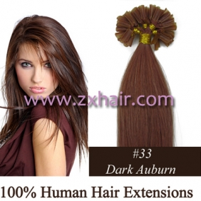 "100S 22"" Nail tip hair remy Human Hair Extensions #33"