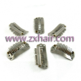 40pcs clip/snap clips for hair extensions/wig/weft 28mm Silver