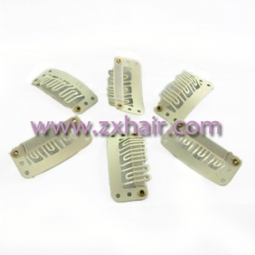 30pcs Clips/snap for Hair extensions/wig/weft 33mm Yellow!!