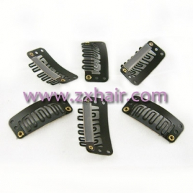 30pcs Clips/snap for Hair extensions/wig/weft 33mm Brown!! [20111006017]