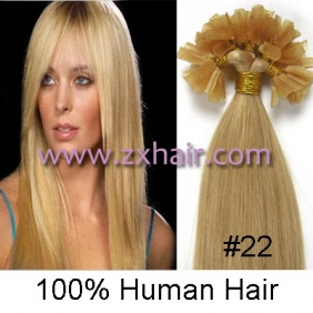 "100S 16"" Nail tip hair remy Human Hair Extensions #22"