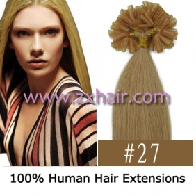 "100S 16"" Nail tip hair remy Human Hair Extensions #27"