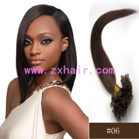 "100S 18"" Nail tip hair remy Human Hair Extensions #06"