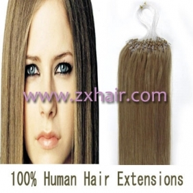"100S 16"" Micro rings/loop hair remy human hair extensions #16"