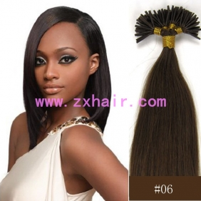 "100S 18"" Stick tip hair remy 0.5g/s human hair extensions #06"