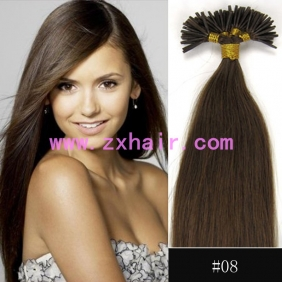 "100S 20"" Stick tip hair remy human hair extensions #08"