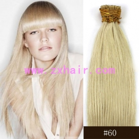 "100S 20"" Stick tip hair remy human hair extensions #60"