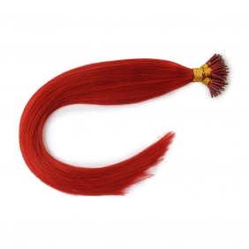 "100S 20"" Nano hair 1g/s human hair extensions #red Double Drawn"