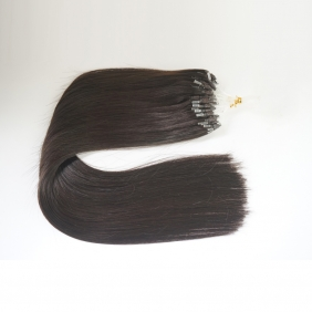 "100S 16"" Micro rings/loop hair 1g/s human hair extensions #1B Double Beads"