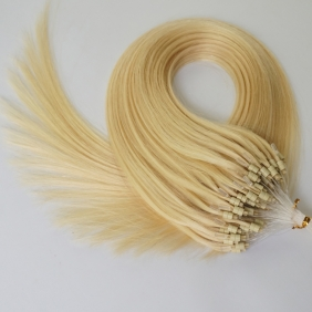 "100S 20"" Micro rings/loop hair 1g/s human hair extensions #613 Double Beads"