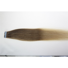 "16"" 30g Tape Human Hair Extensions #12/20 Ombre"