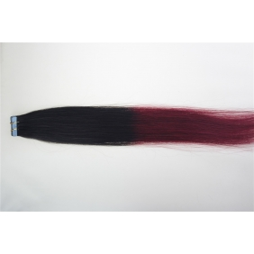 "20"" 50g Tape Human Hair Extensions #1B/BUG Ombre"