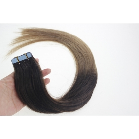 "24"" 70g Tape Human Hair Extensions #02/12 Ombre"