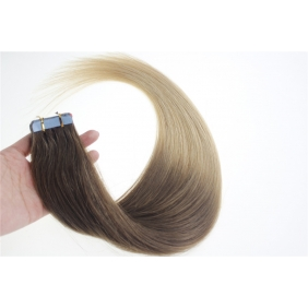 "24"" 70g Tape Human Hair Extensions #06/20 Ombre"