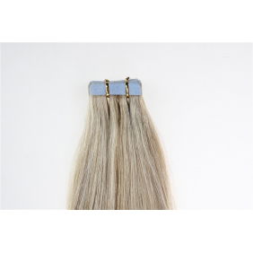 "22"" 60g Tape Human Hair Extensions #18/613 Mixed"