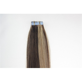 "22"" 60g Tape Human Hair Extensions #4/27 Mixed"