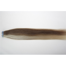 "20"" 50g Tape Human Hair Extensions #12/613 Mixed"