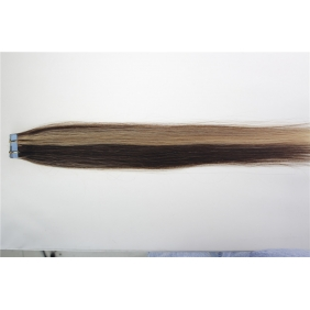 "20"" 50g Tape Human Hair Extensions #4/27 Mixed"