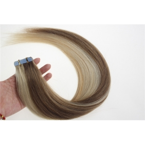 "16"" 30g Tape Human Hair Extensions #12/613 Mixed"