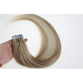 "16"" 30g Tape Human Hair Extensions #18/613 Mixed"