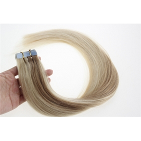 "16"" 30g Tape Human Hair Extensions #27/613 Mixed"