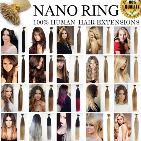 "UK Stock 28 Colors Double Drawn 50S 16""-22\"" Nano hair 1g/s human hair extensions [2017092688]"